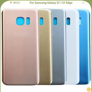 Image 2 - 10 PCS OEM S7 Battery Cover For Samsung Galaxy S7 G930F / S7 Edge G935F Back Cover Door Rear Cover Glass Housing Case