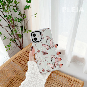 Image 2 - Cute Butterfly Printed Phone Case For iphone 12 mini 11 Pro Max Cartoon Silicone Cover For iphone XS Max SE 2020 XR X X 8 7 plus