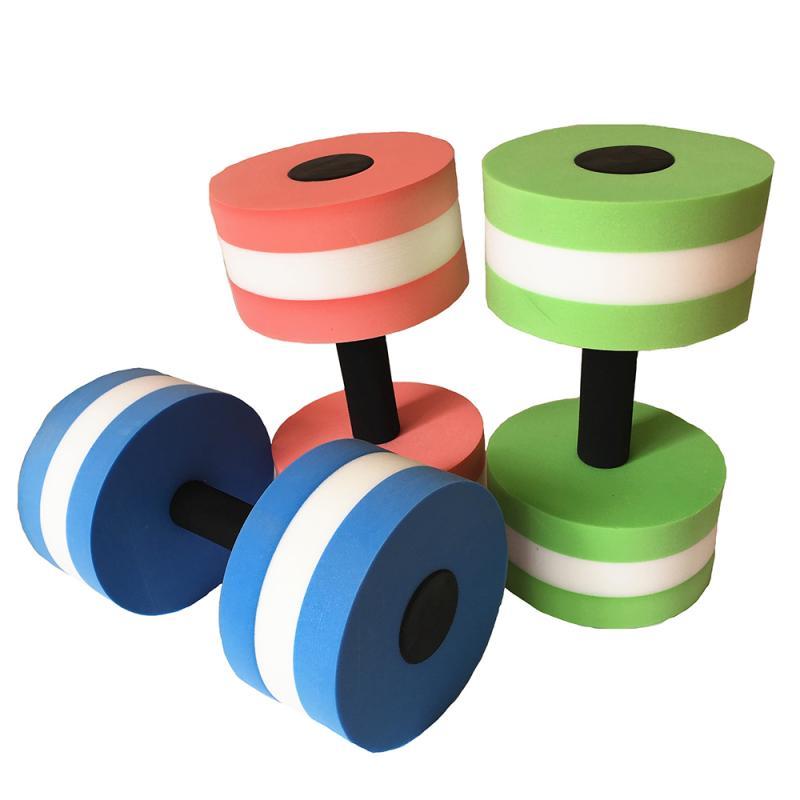 1Pcs Floating Water Dumbbell Swimming Pool ExerciseTraining Fitness Equipment EVA Dumbbell Swim Pool Toys For Kids Child #ED