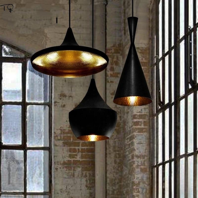 Nordic Industrial Retro Black Vintage Pendant Lights Led Corridor Staircase Coffee Cafe Bar Restaurant Luminaire Suspension in Pendant Lights from Lights Lighting