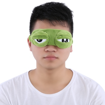 Travel 3D Frog Eye Mask Sleep Soft Plush Padded Shade Cover Rest Relax Blindfold Funny Green Gift 1