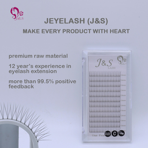 Image 2 - Jeyelash Pre made fans 3D volume eyelash extensions, heat bonded lashes ,5 trays/lot J & S faux mink eyelashes
