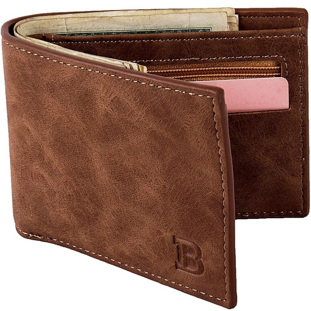 Hot Sale New 1PCS High Quality Fashion Mini Men's Luxury Business Wallet Card Holder Man Purse Coin Bag Zipper Gift For Men