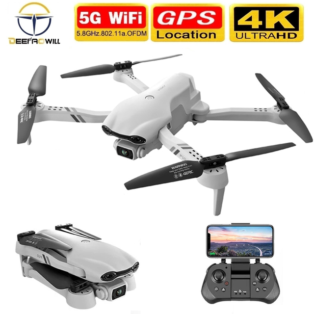2021 NEW F10 Drone 4K 5G WiFi Video FPV Quadrotor Flight 25 Minutes Rc Distance 2000m Gps Rc Drone HD Wide-Angle Dual Camera Toy 1
