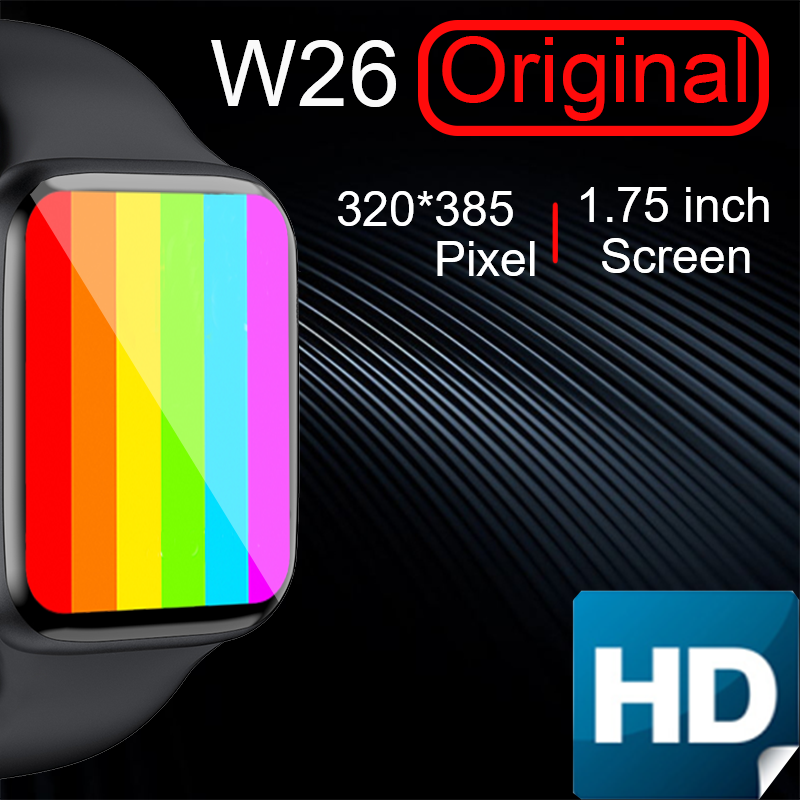 Reloj inteligente iwo W26 serie es 6 para mujer, pulsera para IOS, xiaomi, Huawei, OPPO, PK, Amazfit GTS GT 2, HW12, X6, T500, w56