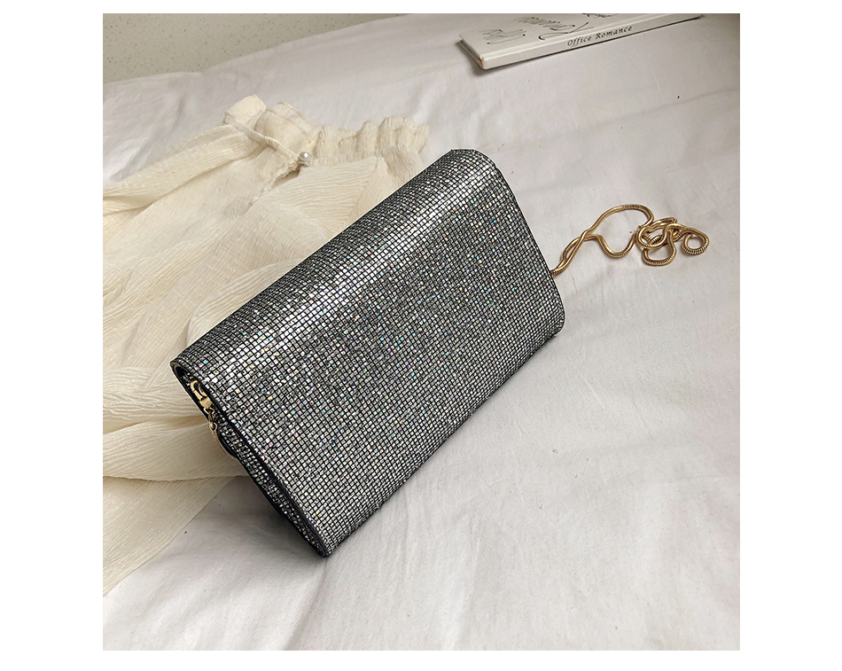 He6bb1915411f49b4b2bb782fb13f205aO - Women Sequin Glitter Evening Clutch Bag Ladies Sparkly Design Wedding Party Shiny Handbag Lady Chain Metal Shoulder Bag