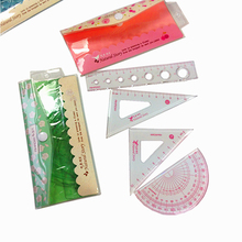 4pcs/pack Beautiful Flower Ruler For Sewing Four-piece Rulers Patchwork Tool Promotional Gift Stationery