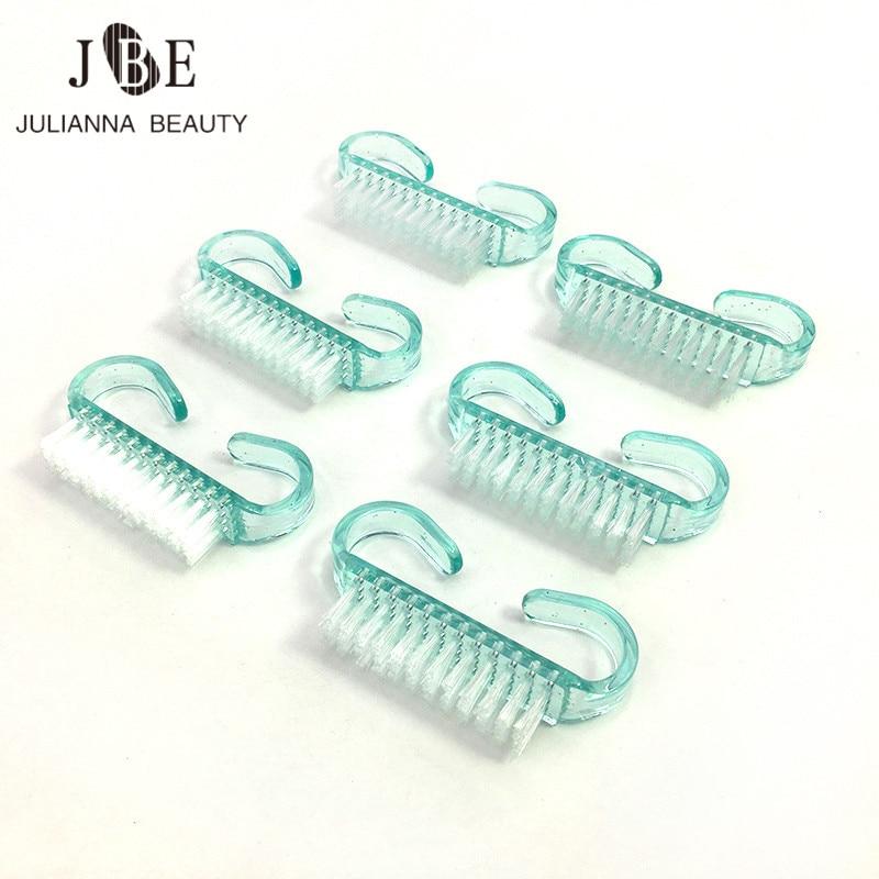 50pcs verde unha arte escova de limpeza ferramentas para manicure pedicure cuidados removedor macio poeira prego