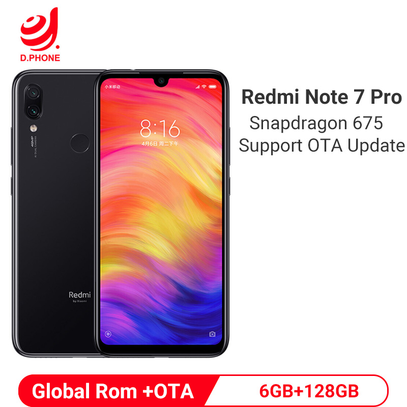 Xiaomi Redmi Note 7 Pro 6GB 128GB Smartphone Snapdragon 675 Octa Core 4000mAh 18W Quick Charger 48MP Dual Camera Mobile Phone
