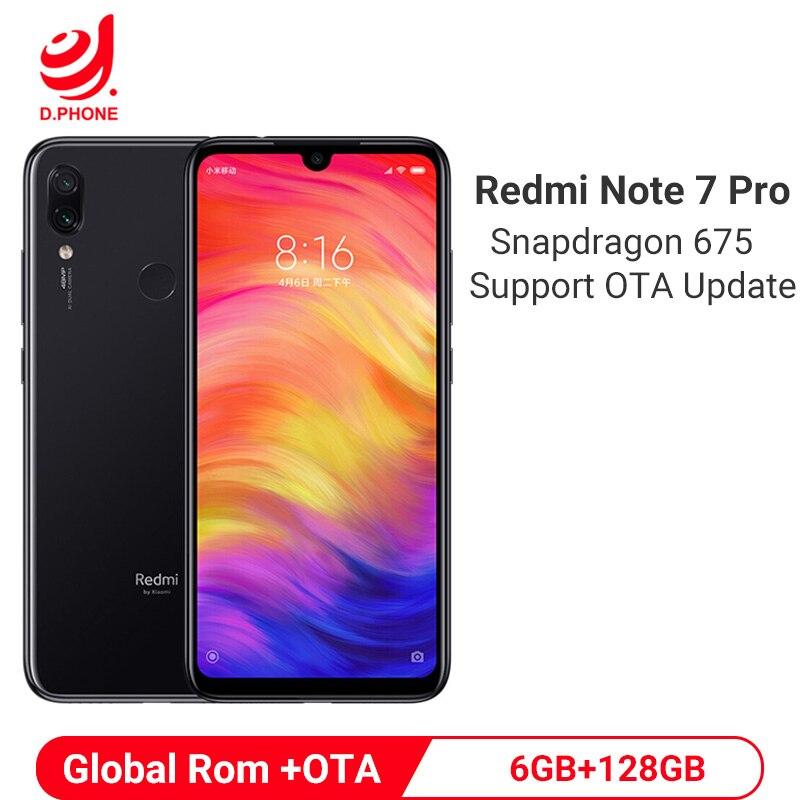 Xiaomi Redmi Note 7 Pro смартфон с восьмиядерным процессором Snapdragon 675, ОЗУ 6 ГБ, ПЗУ 128 ГБ, 4000 мАч, 18 Вт