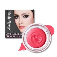 Long Lasting Matte Soft Mousse Lip Blush Makeup Lipstick Cream Blusher Two In On