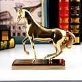Creative maison or cuivre cheval décor abstrait métal cheval succès décor Figurine décoratif métal Statue modèle meilleur cadeau de noël