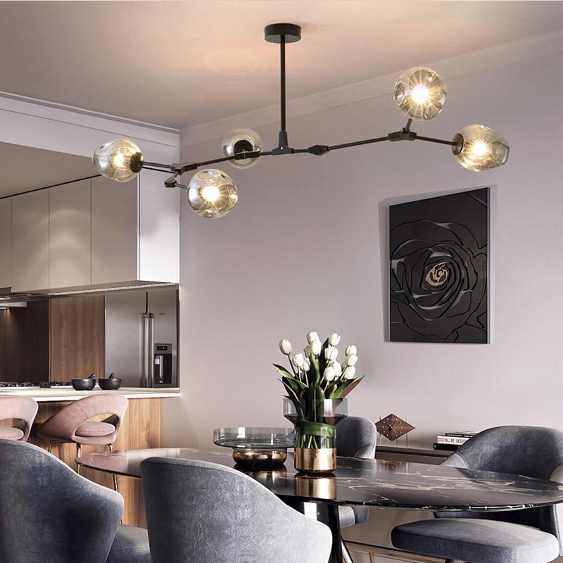 lowest price Modern Led Chandelier For Living room Bedroom Dining room Luminaires Ceiling Chandelier Lighting Black amp White Luminaire 110V 220V
