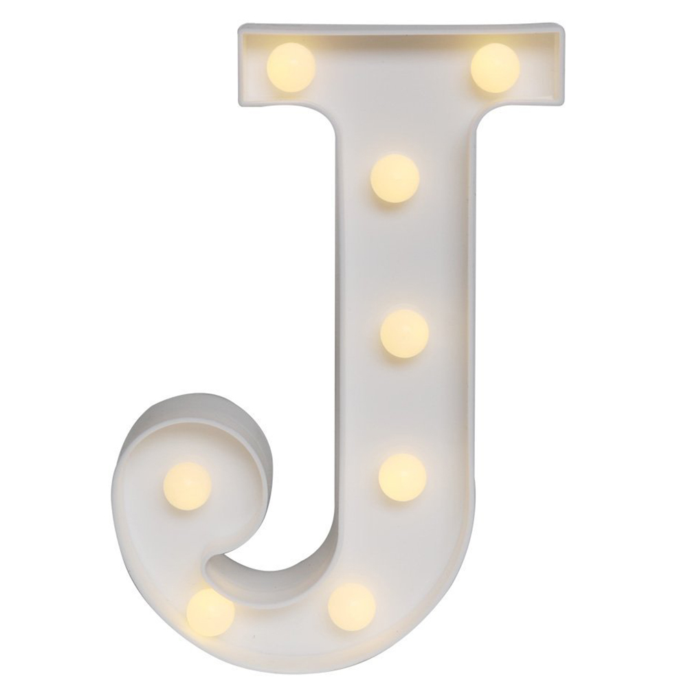 LED Marquee Letter Lights Alphabet Light Up Sign for Wedding Home Party Bar Decoration J|Lighting Strings| |  - title=
