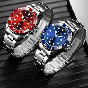 Image 4 - Fashion Green Watch Men 2020 Mens Watches Top Brand Luxury Full Steel Man Quartz Wristwatches Date Waterproof Clock reloj hombre