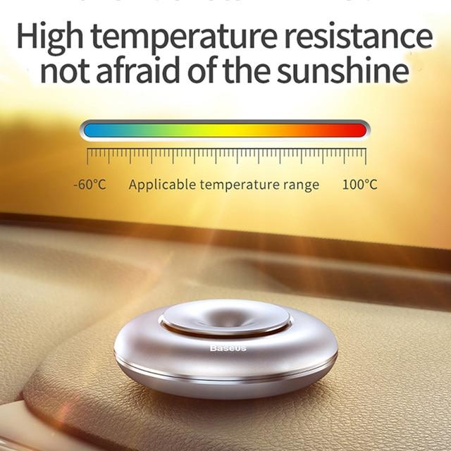 Baseus Car Air Freshener Pure Alloy Lemon Car Perfume Air Freshener Auto Diffuser Sweet Smell Aromatherapy 1