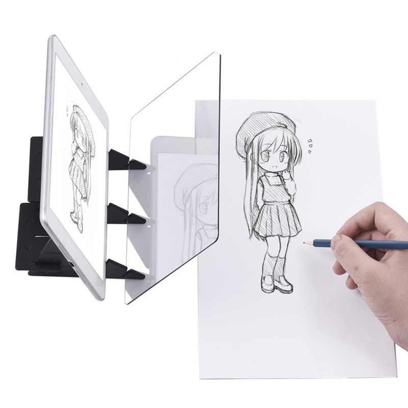 Anime Sketch Art Strumento Ottico Del Capretto del Pannello di Disegno Tracing Bordo Copia Artigianato Pad Portatile Pari A Zero a base di Stampo Pittura Giocattolo regalo