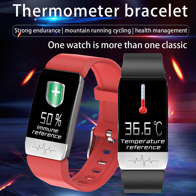Multi sport Smart Watch Thermometer Temperature Measurement ECG Health Monitor Wristband Waterproof Music Control Smart Bracelet