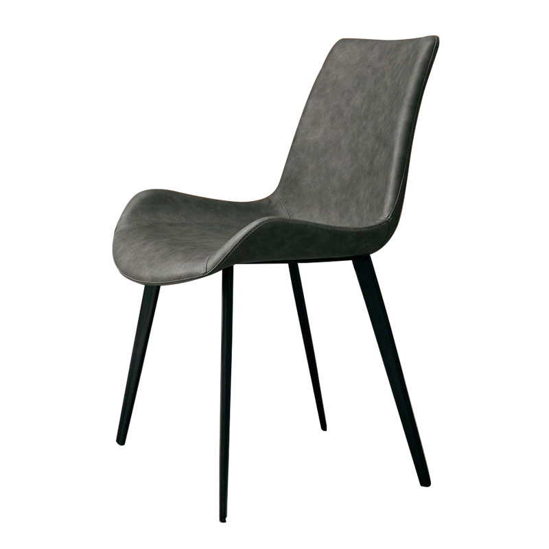 Nordic Solid Wood Dining Chair Simple Light Luxury Modern Creative Backrest Restaurant Home Soft Bag Back Leather Hotel Chair