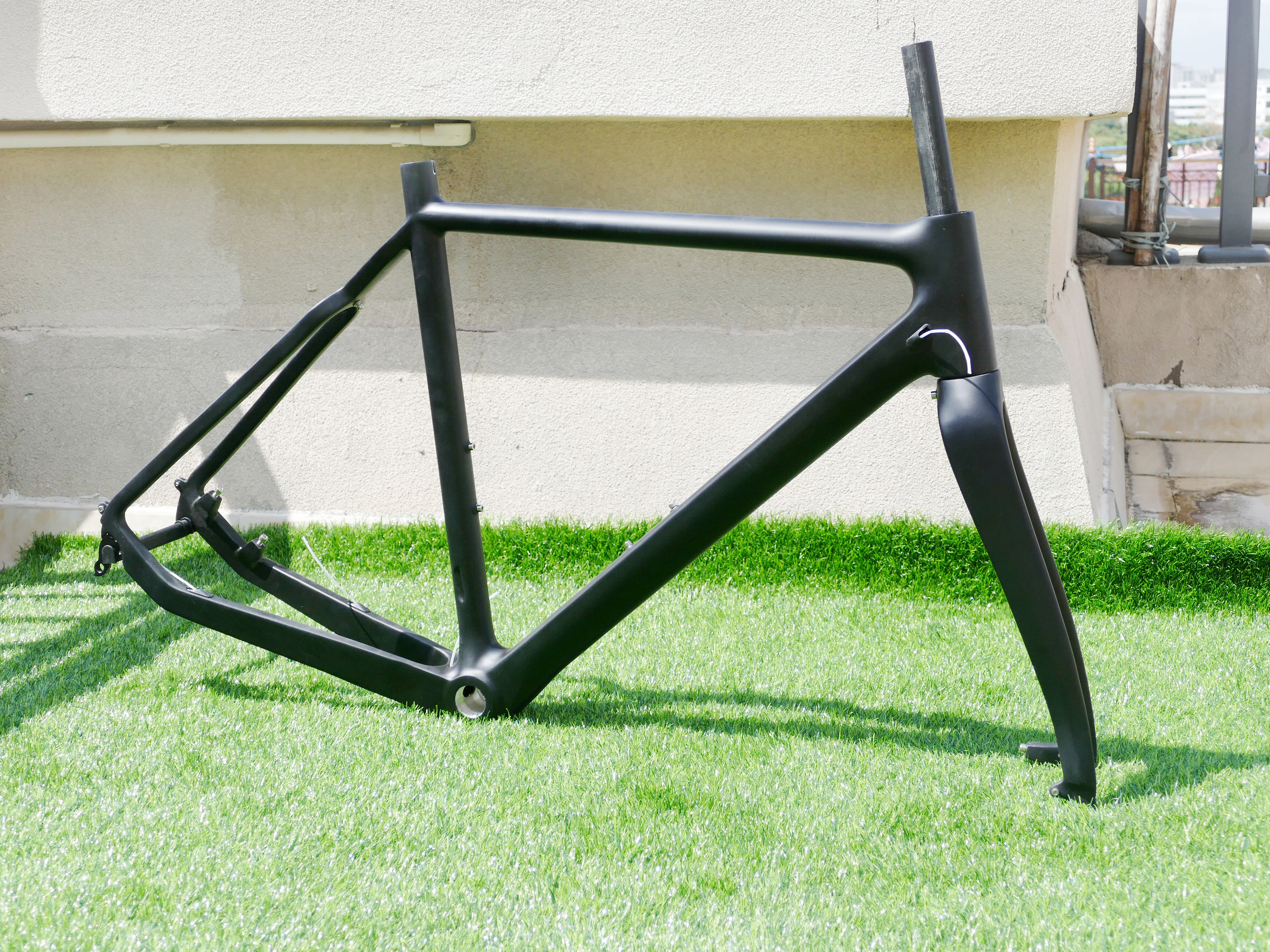 Toray Carbon Cycling Cyclocross Bike Bicycle Cyclo Cross BSA Frame 53cm /& Fork