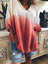 plus size S-5XL oversize women linen tops lady casual loose style linen blouse original surface design oversize women tops good