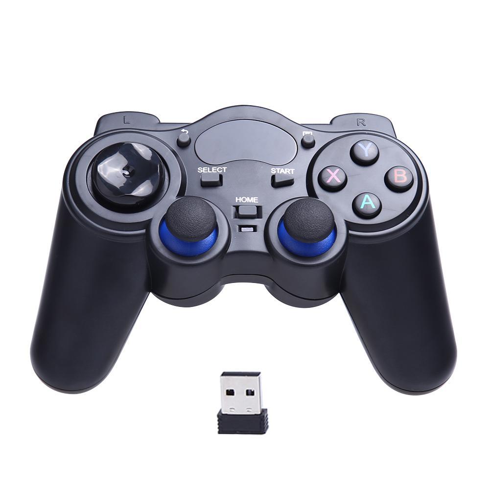 Evrensel oyun denetleyici 2.4G kablosuz oyun Gamepad Joystick için USB ile Android TV kutusu tablet PC Windows 8/7/XP Gamepad