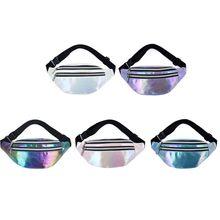 Purse Belt-Bag Waist-Fanny-Pack Holographic Women Pouch Shoulder-Bags Travel Fashion