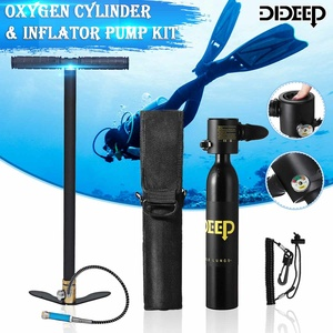 DIDEEP Black 0.5L Mini Scuba Cylinder Scuba Oxygen Reserve Air Tank+Respirator Bag Hand Pump Snorkeling Breathe Diving Equipment(China)
