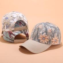 Baseball Cap Floral Print Snapback Women Autumn Summer Casual Breathable Sun Hat Outdoor
