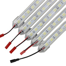 50CM LED bar strip light Double Row 8520 DC12V 120leds/m aluminum led Rigid Bar Hard Light for kitchen Showcase Cabinet lamp(China)