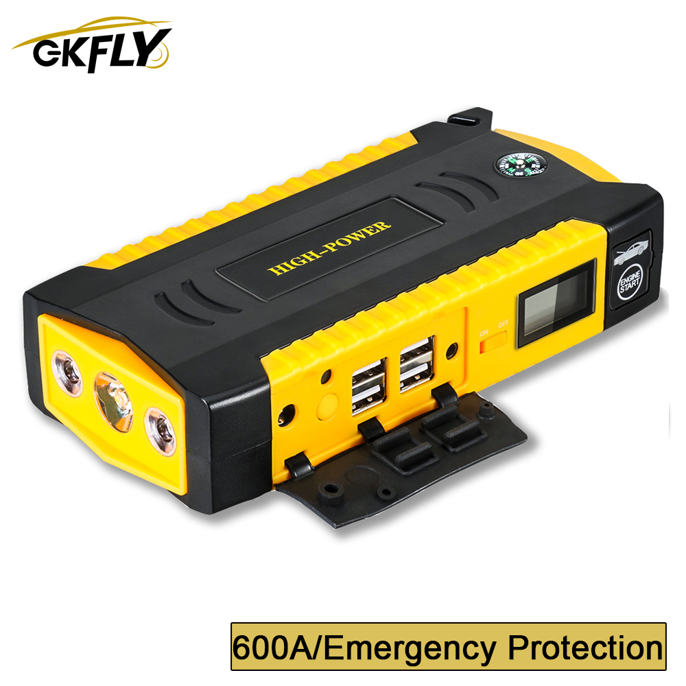 GKFLY Power-Bank Booster Starter Starting-Device Portable High-Capacity Car 12V 600A title=