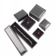 New Wholesale jewelry packaging box in gray Composite materials for ring pendant bracelet Jewelry accessories for women(China)