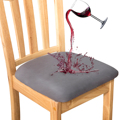 Waterproof Dining Chair Covers Non-slip Chair Seat Case Cover with Button for Home Decoration Restaurant Hotel Cover for Chair