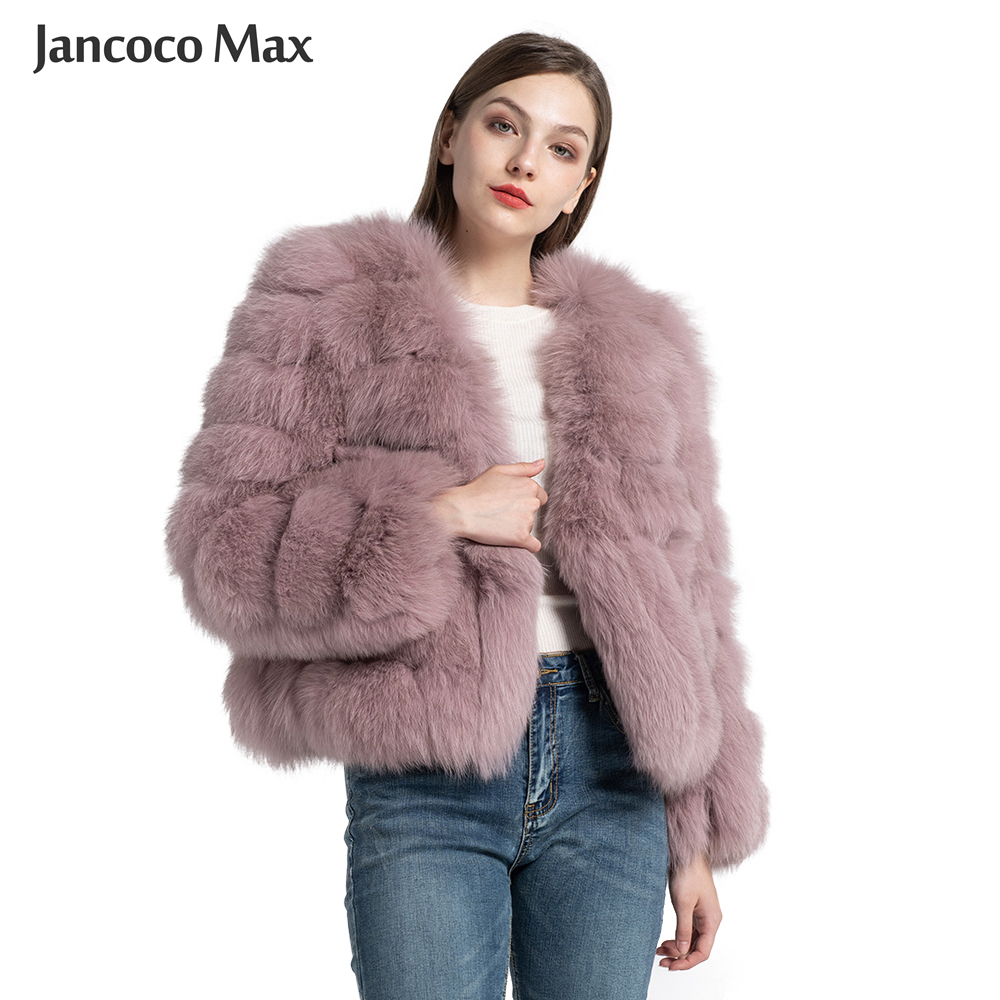 New Winter Fashion Fox Fur Coat Women Natural Fur Luxury Jackets Lady Thick Warm Outwear S7570