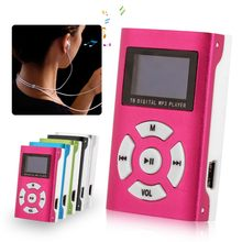 USB Mini MP3 Player LCD Screen Support Micro SD TF Card Slick Stylish Design Sport Compact Multiple Colour(China)