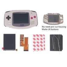 Retroiluminación LCD para GBA IPS V2, 4 píxeles en 1, visión completa, juegos de Game Boy ADVANCE, sustituye 10 niveles de brillo