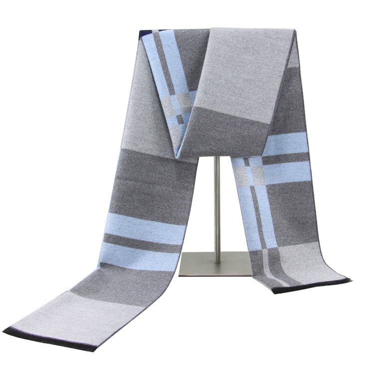 Scarf Men's New Winter Men's Scarf Striped Scarf Business Cotton Scarf Men's Padded Warm Scarf Men's Scarf Men Scarf  Scarfs