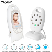 Wireless Video Baby Monitor 2.0 inch Color Security Camera 2 Way Talk Night Vision IR LED Temperature Monitoring With 8 Lullaby 2 0 color video wireless baby monitor two way talk night vision ir night vision video baby camera with music temperature