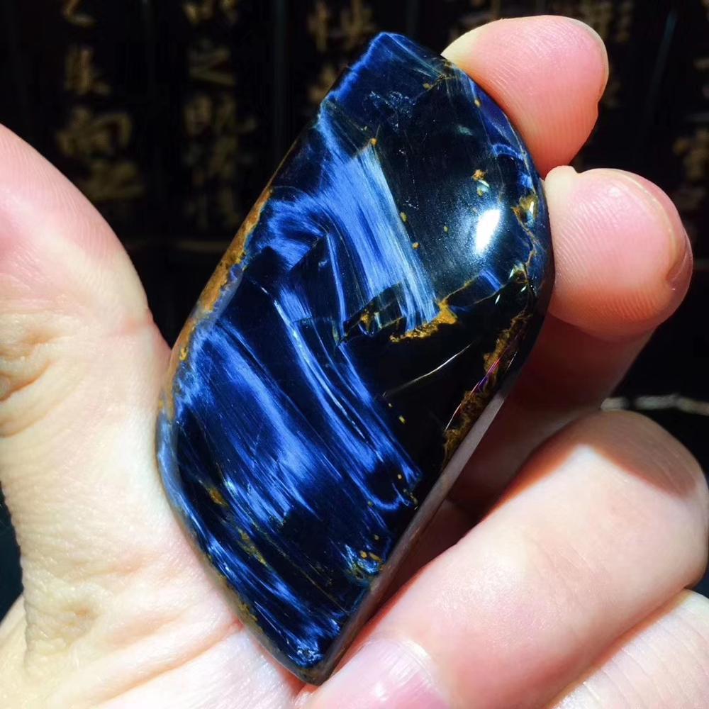 Certificate Natural Blue Pietersite Women Men Chatoyant Pendant 55x28x8mm Best Gift Crystal Healing Gemstone From Namibia AAAAA