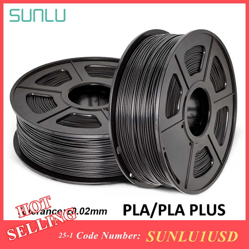 SUNLU PLA PLA PLUS 3D เครื่องพิมพ์ 1.75 มม.1 กก.SPOOL SILK PLA 3D Filament Rainbow PLA การพิมพ์วัสดุ