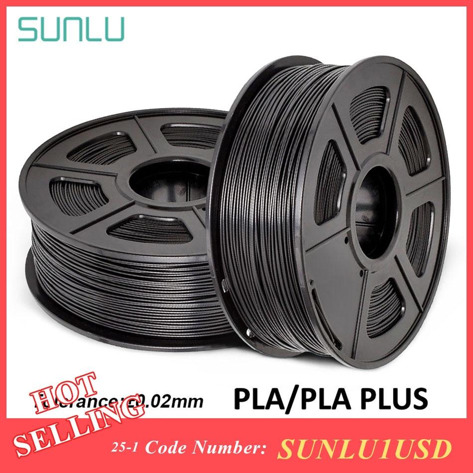 SUNLU PLA PLA Plus 3D yazıcı Filament 1.75mm 1KG makara ile ipek PLA 3D Filament gökkuşağı PLA baskı malzeme