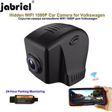 Jabriel скрытая камера в автомобиль 1080P dash cam 24 часа в сутки с записывающим устройством, для vw passat b5 b6 b7 b8 для Volkswagen Polo, Golf 4, 5, 6, 7, tiguan touareg