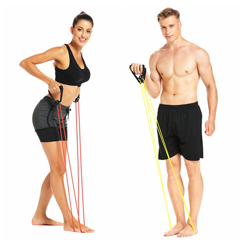 Yoga Pull Rope Resistance Bands Fitness Gym Elastic Bands Rubber Chest Durable 20LB-60LB Exercise Training Bandve