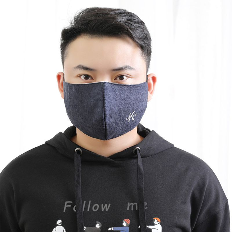 Fog-free Men Cotton Mouth Face Mask Anti Dust Pollution Haze Respirator Filter CORD