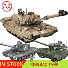 XINGBAO военный леопард 2 Танк Набор строительных блоков Technic совместимый с Legoed Танк WW2 армейский солдат игрушки основные боевые кирпичи