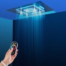 600*800mm Misty Shower Head Rainfall Waterfall Shower Heads Bathroom Spray Massage Ceiling LED Light Showerheads 304 SUS dr richard e blackwell light through stained glass
