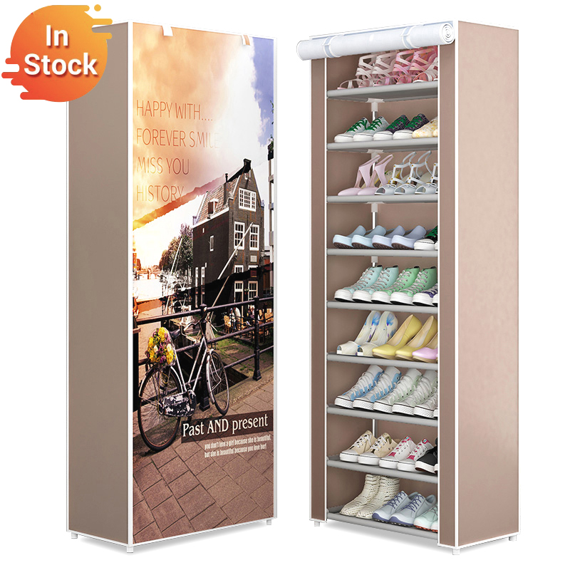 9-Layer Nonwoven Shoe Rack Combination Storage Shoes Boots Closet Easy Assembly Shoes Stand Holder Space-Saving Shoe Organizer