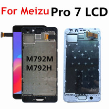 Tested Good 5.2 LCD For Meizu Pro 7 LCD Display Touch panel Screen Assembly Replacement for Meizu Pro 7 Pro7 LCD With Frame где живут зверята