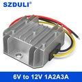 Преобразователь напряжения постоянного тока 6 в 12 В, 5 В, 6 в, 8 в, от 10 В до 12 В, усилитель модуля электропитания автомобиля, водонепроницаемый CE...