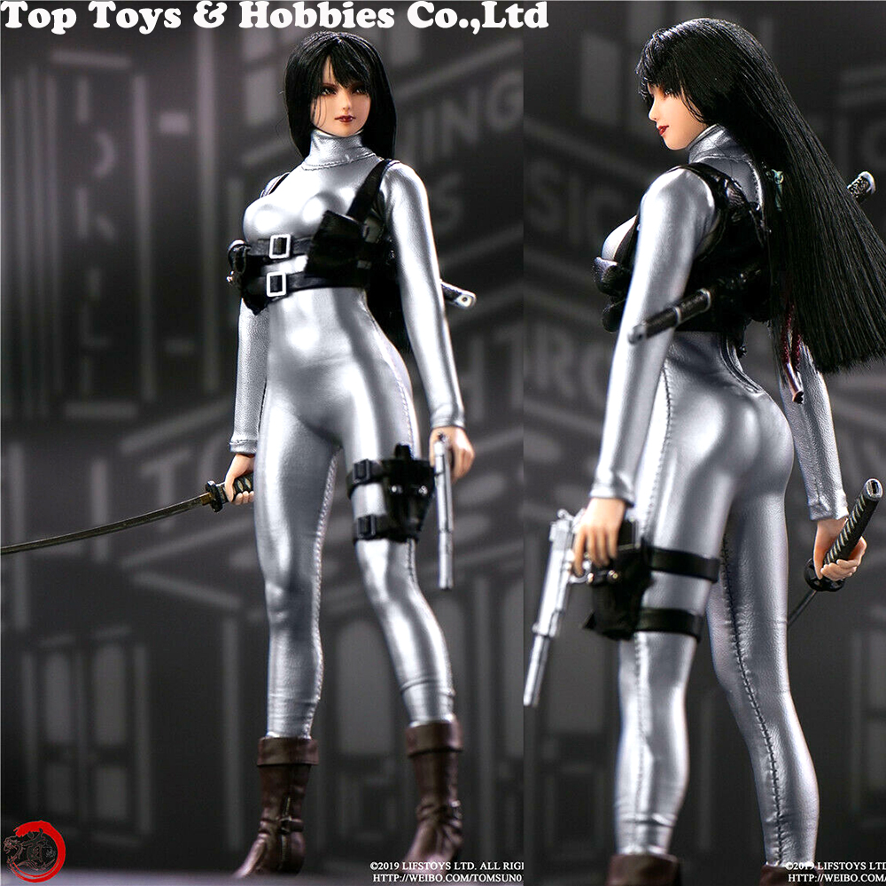 1/6 Scale Female Crossover Bodysuit Leather Tights Sliver Leotard Corsetry Clothes For 12